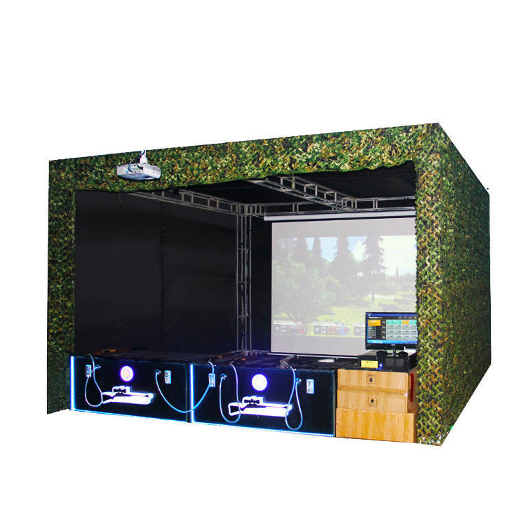 Projector Screen Shooting Game Machine Real Sence Shooting Hunting Hero 4 Players