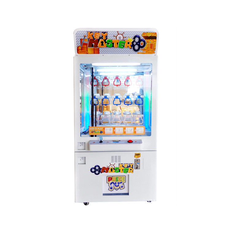 Coin Pusher Prize Claw Crane Machine / Key Master Game Machine 100W